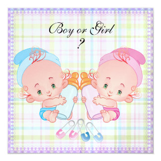 Cute Baby Gender Reveal Party Invitation