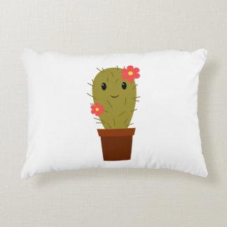 Cute baby girl cactus decorative cushion