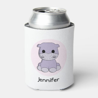 Cute baby hippo cartoon name kids can cooler