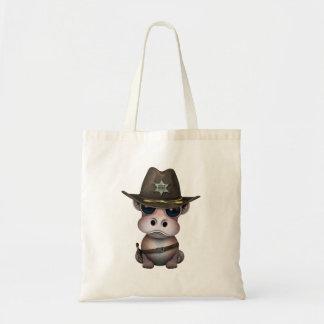 Cute Baby Hippo Sheriff Tote Bag