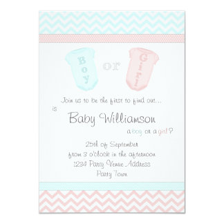 Cute Baby Jumpsuits Gender Reveal Party Invitation