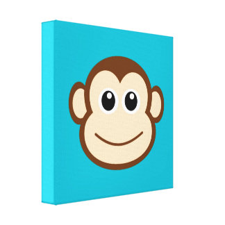 Cute Baby Monkey Face Canvas Print