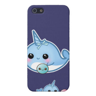 Cute baby narwhals playing ball iPhone 5/5S cases