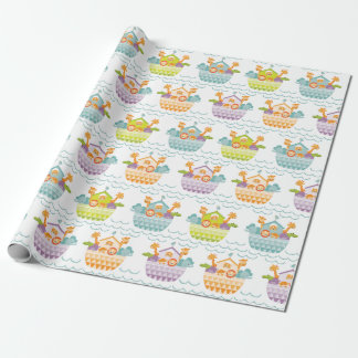 Cute Baby Noahs Ark Wrapping Paper