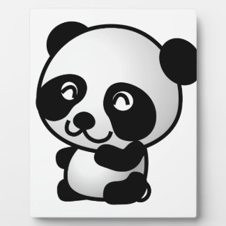 Cute Baby Panda Cartoon Plaque