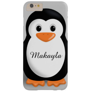 Cute Baby Penguin Personalized Name Barely There iPhone 6 Plus Case
