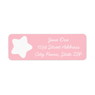 Cute Baby Pink Star Return Address Label