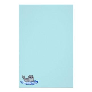 Cute baby seal cartoon stationery
