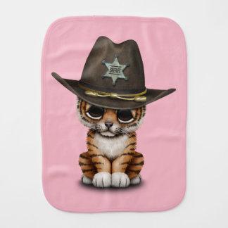Cute Baby Tiger Cub Sheriff Burp Cloth