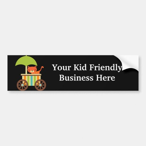 Cute Baby Tiger on Black Gifts for Kids Baby Bumper Sticker