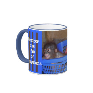 Cute Baby Wild Animals Ringer Coffee Mug