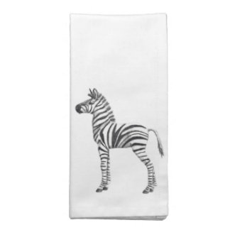 Cute Baby Zebra Drawing Napkin
