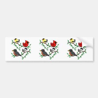 Cute Backyard Birds Bumper Sticker