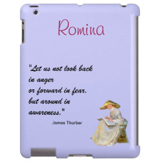 Cute Barely There iPad Case with Quote