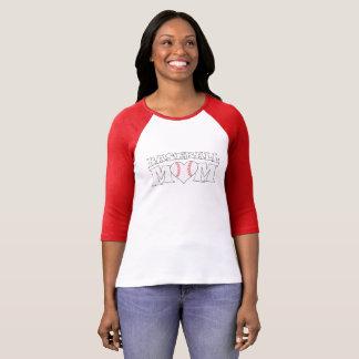 Cute Baseball Mum Heart Ballpark T-shirt