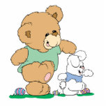 Cute Bear and Easter Bunny Photo Cut Out