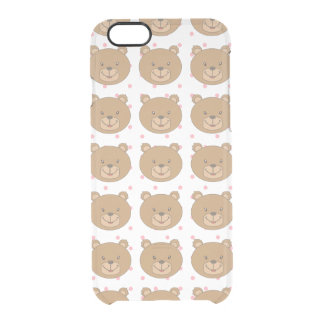 Cute Bear Clear iPhone 6/6S Case