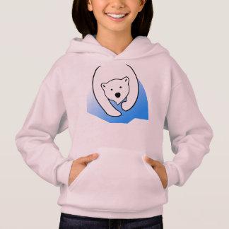 cute bear white polar friend family