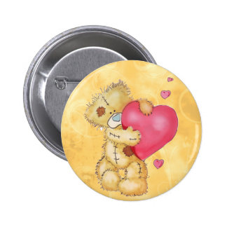Cute Bear with Hearts 6 Cm Round Badge