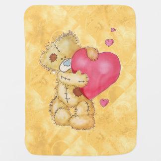 Cute Bear with Hearts Pramblankets