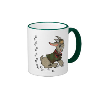 Cute Billy Goat with Bowtie Ringer Mug