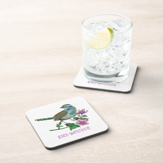 Cute Bird And A floral Branch Coaster