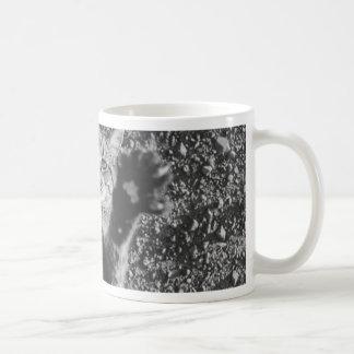 Cute Black and White Cat Hug Basic White Mug