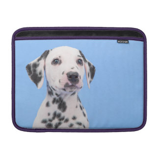 Cute black and white dalmatian puppy sleeve for MacBook air