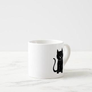 Cute Black Cat Espresso Mug