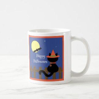 Cute Black Cat Happy Halloween Mug