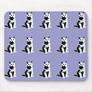 cute black cats patterning mousepad