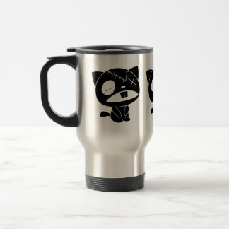 Cute Black Kitty Cat Zombie Coffee Mug