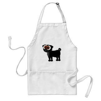Cute Black Pug Apron / Art Smock