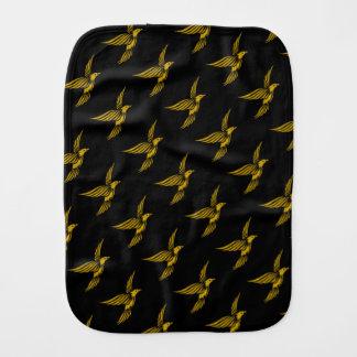 Cute black vintage gold eagle patterns baby burp cloths