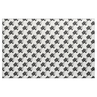 Cute black white cats patterns fabric