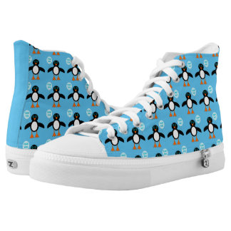 Cute Blue Baby Boy Penguin Shoes Printed Shoes