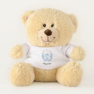 Cute Blue Baby Bunny Cartoon Teddy Bear