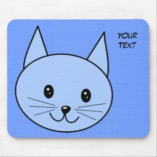 Cute Blue Cat Mousepads