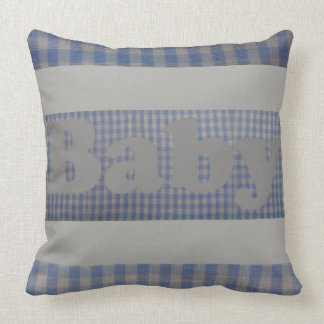 Cute Blue Country Gingham Baby Nursery Pillow
