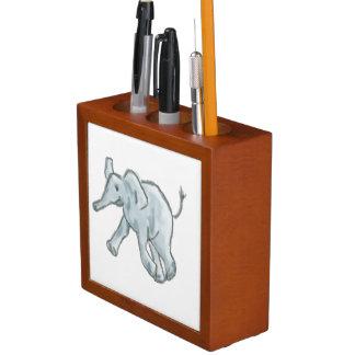 Cute Blue Elephant Desk Organiser