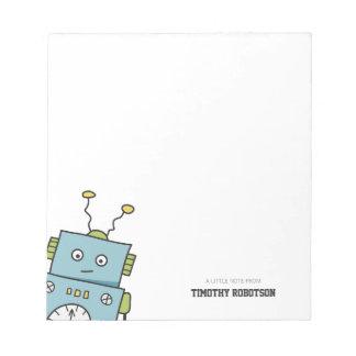 Cute Blue Hand Drawn Robot Notepads