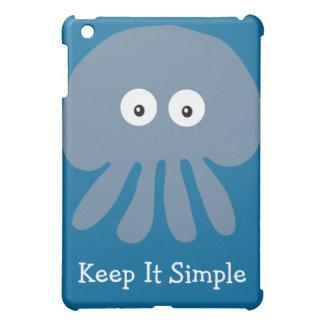 Cute Blue Jellyfish Keep It Simple Customizable Cover For The iPad Mini