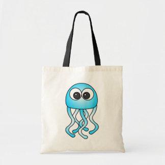 Cute Blue Kawaii Jellyfish Tote Bag