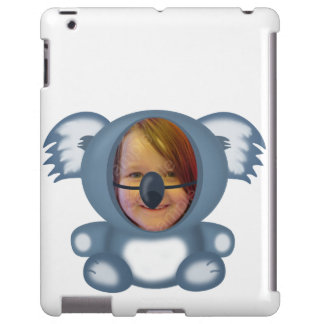Cute Blue Koala Bear Cartoon Animal Photo Cutout iPad Case