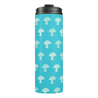 Cute Blue Mushroom Thermal Tumbler