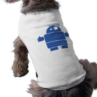 Cute Blue Robot Dog Shirt