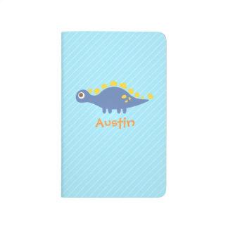 Cute Blue Stegosaurus Dinosaur Kids Notebook