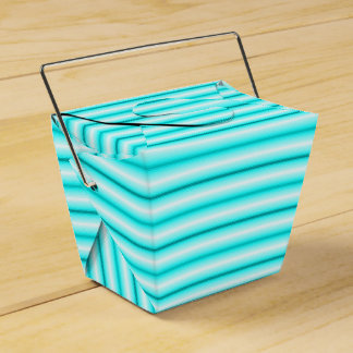 Cute Blue Striped Take Out Box Party Favour Boxes