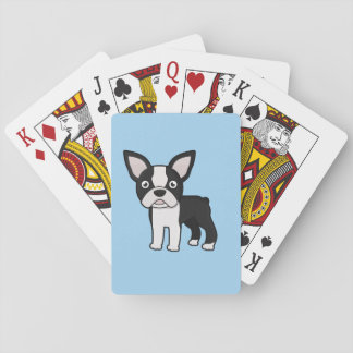 Cute Boston Terrier Playing Cards