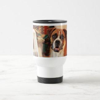 Cute Boxer Stainless Steel Travel Mug